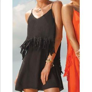 L*Space Black Fringe Dress